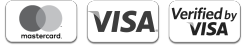 We accept MasterCard with MasterCard SecureCode, Visa with Verified by Visa