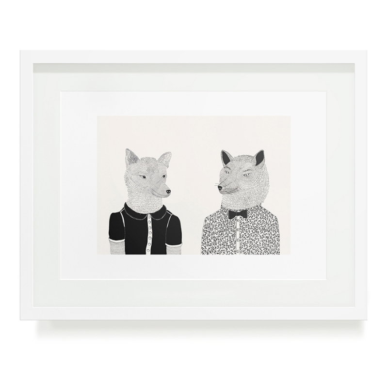 WOLFIE AND WOLF A3 ART PRINT