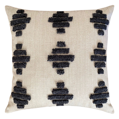PUNCH NEEDLE SQUARE ZULU PATTERN CUSHION COVER ONE