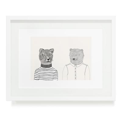 BEAR AND CHEETAH A3 ART PRINT