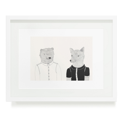 BEAR AND WOLF A3 ART PRINT