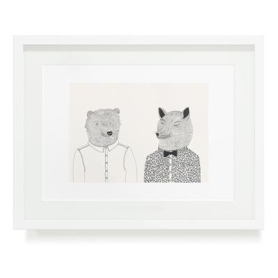 BEAR AND WOLFBOY A3 ART PRINT