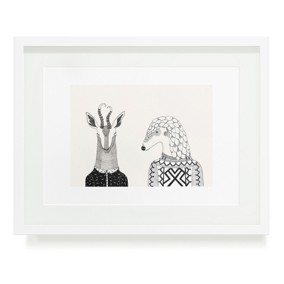 BOKKIE AND PONGOLIN A3 ART PRINT