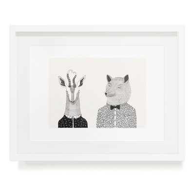 BOKKIE AND WOLF A3 ART PRINT