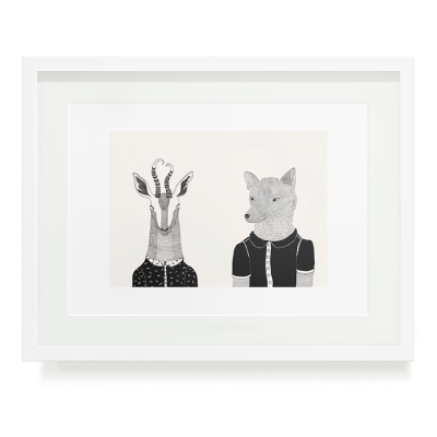 BOKKIE AND WOLFIE A3 ART PRINT