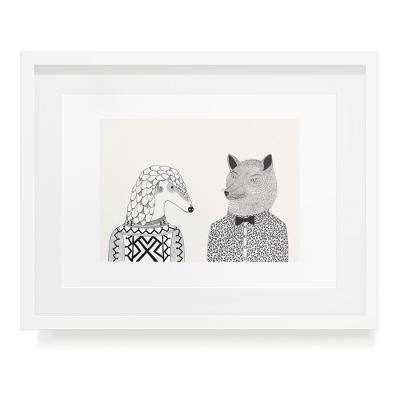PANGOLIN AND WOLF A3 ART PRINT