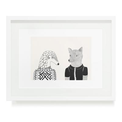 PANGOLIN AND WOLFIE A3 ART PRINT