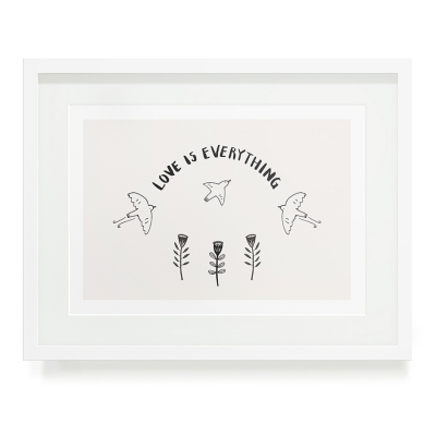 LOVE IS EVERYTHING A5 ART PRINT