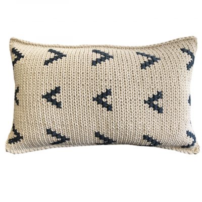 ARROWS COTTON TWINE CUSHION