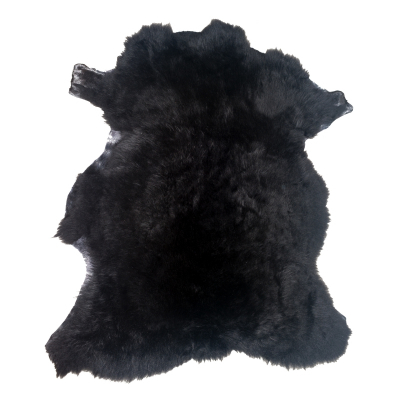 LONG HAIRED SHEEPSKIN RUG BLACK