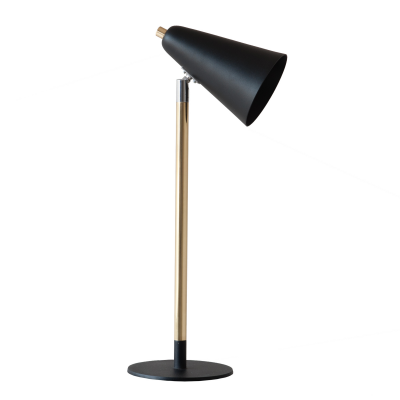BLACK AND GOLD SWIVEL LAMP