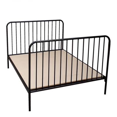ISABEL BLACK ALL SIZES STEEL BED