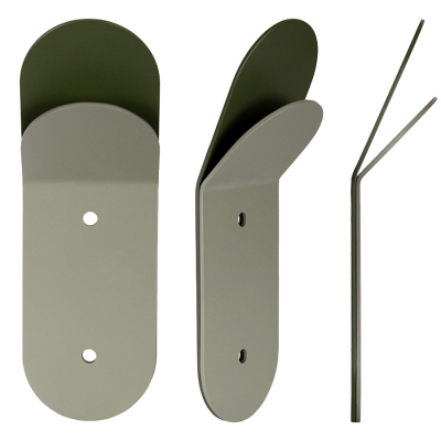 BUBBLE STACKED FOREST GREEN WALL HOOK THREE PACK