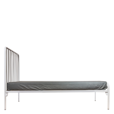 AMELIA WHITE ALL SIZES STEEL BED