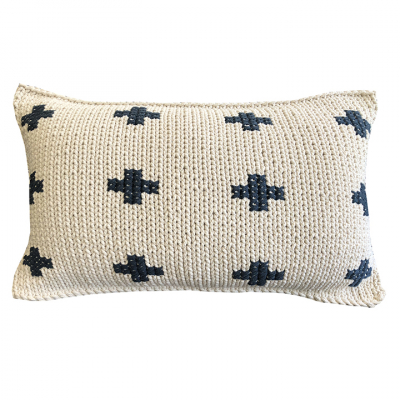 FAT CROSSES COTTON TWINE CUSHION