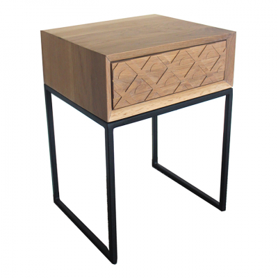 OAK SUNRISE BEDSIDE TABLE