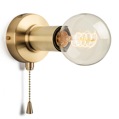 PULLCHAIN SIMPLE WALL SCONCE BRASS