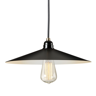 EXPOSED SHADE BLACK EMPIRE PENDANT