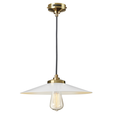 EXPOSED SHADE WHITE AND GOLD EMPIRE PENDANT
