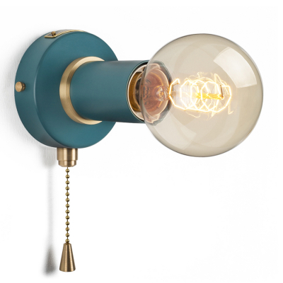 PULLCHAIN SIMPLE WALL SCONCE HARBOUR TEAL