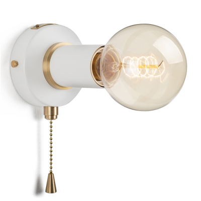 PULLCHAIN SIMPLE WALL SCONCE WHITE