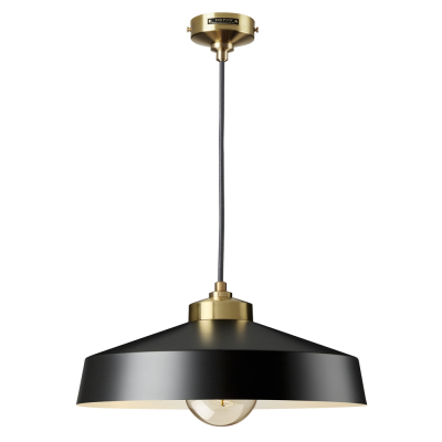 MEDIUM SHADE BLACK AND GOLD EMPIRE PENDANT