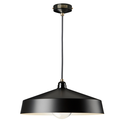 MEDIUM SHADE BLACK EMPIRE PENDANT