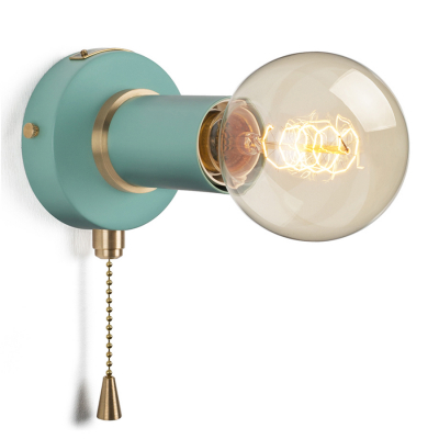 PULLCHAIN SIMPLE WALL SCONCE MISTY MINT