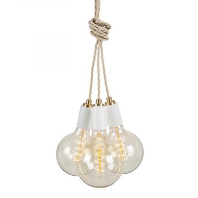 STATEMENT CLUSTER 3 PENDANT MATT WHITE