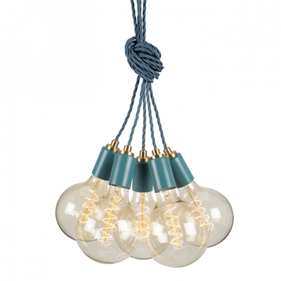 STATEMENT CLUSTER 5 PENDANT TEAL