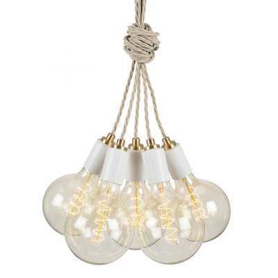 STATEMENT CLUSTER 5 PENDANT MATT WHITE