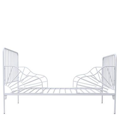 CHARLOTTE STEEL BED WHITE