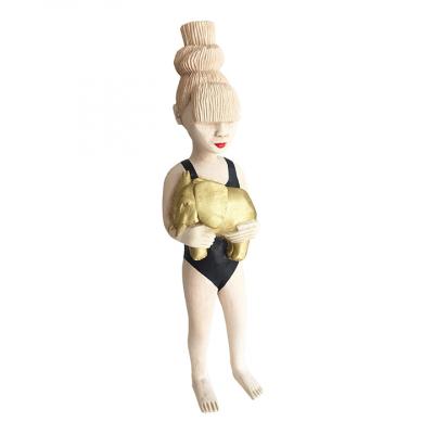 TOP KNOT HAIR GOLDEN ELEPHANT GIRL