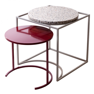 FLOSS SIDE TABLE MERLOT