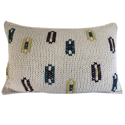 KEY HOLES COTTON TWINE CUSHION