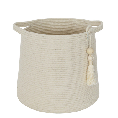 IVORY COTTON ROPE CONICAL BASKET