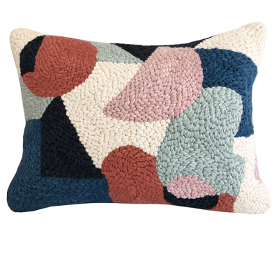 PUNCH NEEDLE CUSHION FOUR