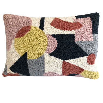 PUNCH NEEDLE CUSHION THREE