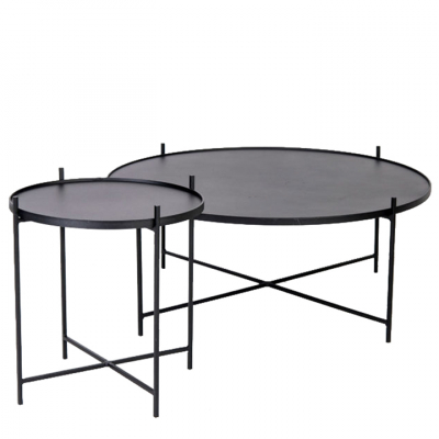 FLOATING BLACK TABLE SET