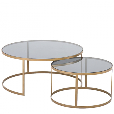 GOLD DRUM TABLE NESTING SET