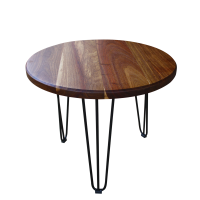 ROUND HAIRPIN SIDE TABLE