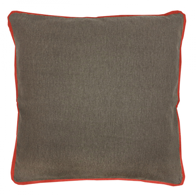 COLOUR POP PILLOW COCOA AND PERSIMMON CUSHION