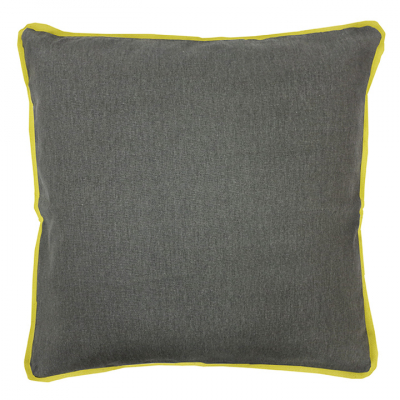 COLOUR POP PILLOW GRAPHITE AND LEMON CUSHION