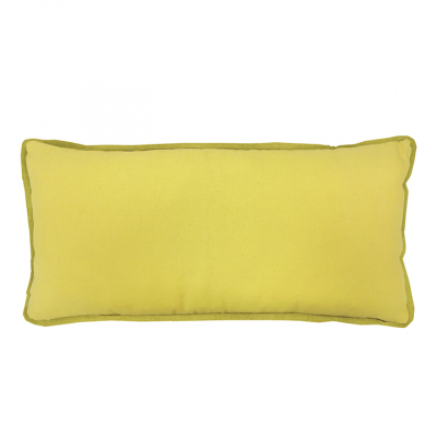 COLOUR POP OBLONG LEMON AND GOLD CUSHION