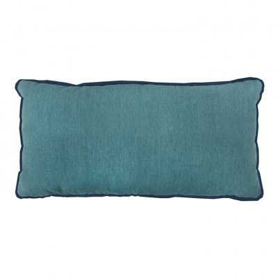 COLOUR POP OBLONG TEAL AND PETROL CUSHION