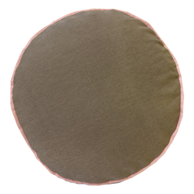 COLOUR POP ROUND COCOA AND SHELL CUSHION