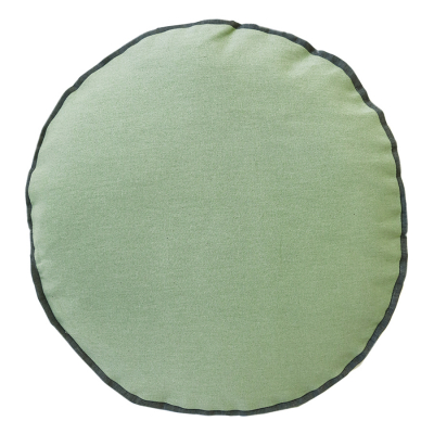 COLOUR POP ROUND SPRUCE AND GRAPHITE CUSHION