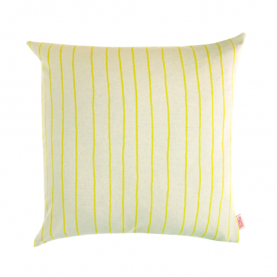 SIMPLE STRIPE LEMON CUSHION
