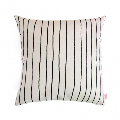 SIMPLE STRIPE LIQUORICE CUSHION