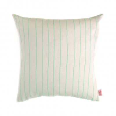 SIMPLE STRIPE MINT CUSHION